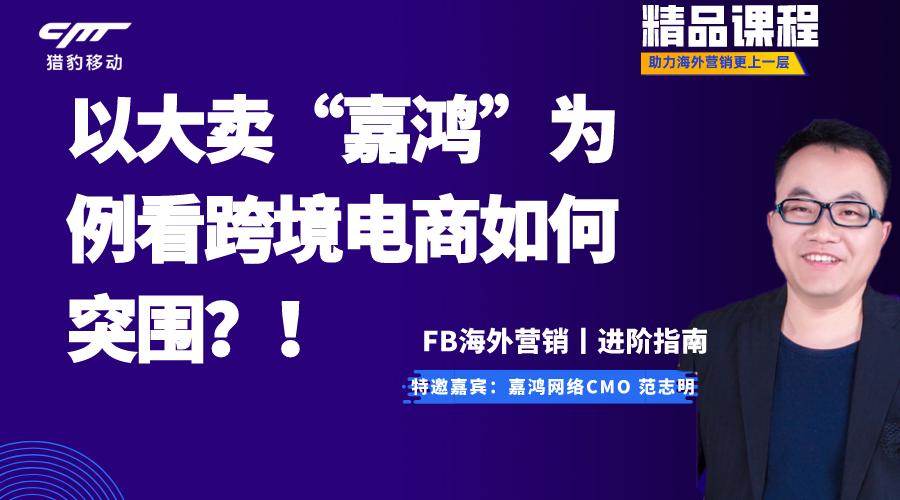 """【进阶指南】以大卖""""嘉鸿""""为例,看跨境电商如何突围?!"""